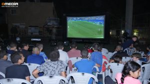 הקרנת משחקי כדורגל